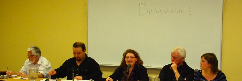 Photos des conf.: Serge Roy; Animateur du CJF; Nancy Gagnon; Robert Jasmin; Vero. Laflamme