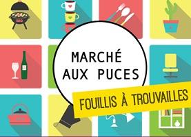 Affiche : dessins en mosaïque de 16 objets : BBQ, tasse, cactus, etc. Fouillis à trouvailles
