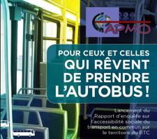 Affichette : photo de l'intérieur d'un autobus du RTC. Pour ceux et celles qui rêvent de prendre l'autobus ! - CAPMO
