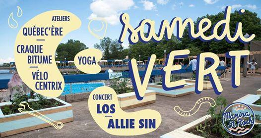 Affichette sur fond de la photo de la marina, style pisscine : nomme ici et là les groupes participants.
