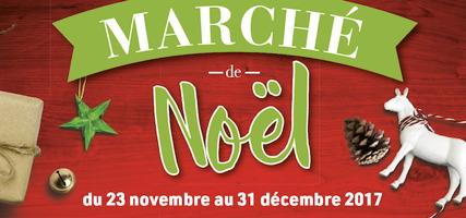 Affichette sur fond un bois teint rouge vif : étoile verte, reine blanc, cocotte, clochette.