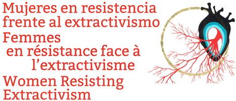 Affichette et logo de la rencontre : dessin d'un coeur, ressemblant à l'organe pour de vrai, avec des veines rouges qui s'étendent, dans un cercle d'oré. Le titre écrit en espagnol, français et anglais.
