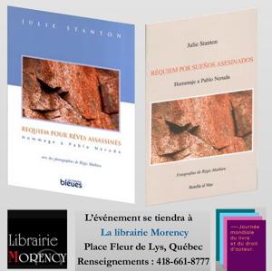 On y voit les deux pages couvertures : version française (édition Heures bleues) et espagnol (édition Botella al Mar).</body></html>