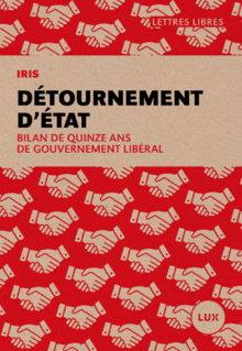 Page couverture du livre : dessin de mains qui se serrent entre elles, répétés des dizaines de fois sur fond rouge. - IRIS - LUX.