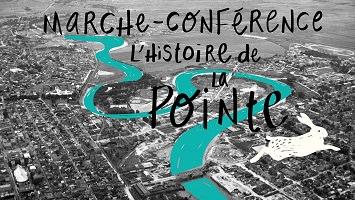Sur fond d'une photo noir-blanc de la ville vue du ciel. La Rivière Saint-Charles est colorée turquoise intense. Dessin blanc d'un lièvre en mouvement.</body></html>