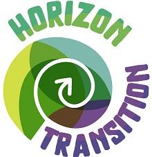 Logo Horizon Transition : spirale dont le fond sont des formes ovales jaune, verte, bleu et mauve.</body></html>