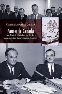 Page couverture du livre : deux photos. 1) huit hommes en veston cravate dans les années 60, photo en noir-blanc. Ils semblent être du même parti. 2) deux hommes à la même table, pour une conférence de presse, plusieurs cahiers de papier. Probablement les deux commissaires.
