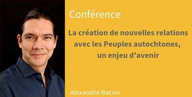 Affichette sur fond jaune pâle : portrait d'Alexandre Bacon.</body></html>
