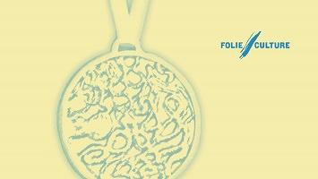 Affichette sur fond beige pâle : impression d'un médaille très ornementée, difficile à décrire (motif </body></html>