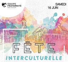 Affichette basée sur celle de 2017 : dessin de maisons et de l'église, mais en filtre multicolore, couleurs pastelles. Équipe fraternité Saint-Sauveur : dessin d'un coeur noir.</body></html>