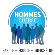 Logo 2018-2019 : sur un cercle bleu ciel dégradé, ombres de sept hommes de tailles différentes. « Parole - Écoute - Mieux-être ».