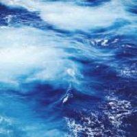 Image des eaux de l'océan, très foncées et tumultueuses, mais aussi belles.