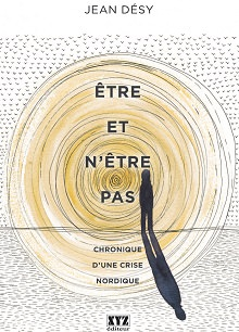 Page couverture du livre: de nombreux cercles concentriques au crayon, avec des parties colorées jaune. Ombre d'un petit personnage qui semble contemplatif.