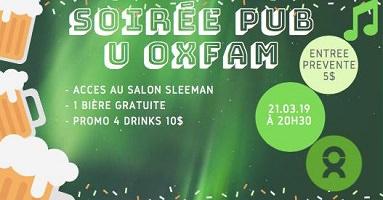 Affichette sur fond vert : dessin de pots de bière et une note de musique.