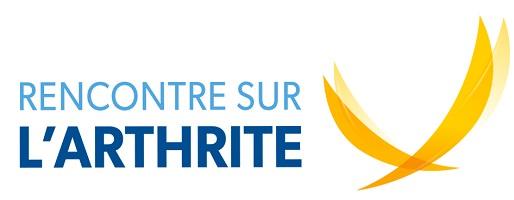 Logo de l'événement, reprenant le logo de la Société de l'arthrite : deux lignes épaisses et courbes, jaune, se croisant vers le bas. Pourrait rappeler des ailes.