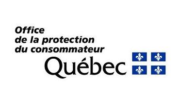 Logo de l'Office de la protection du consommateur, qui affiche simplement le drapeau du Québec.