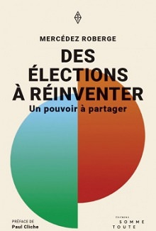 Page couverture du livre : deux demi-cercles sont collés ensemble comme un seul cercle inégal. Un côté bleu dégradé vers le vert ; l'autre côté orange-rouge.