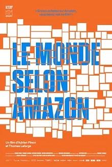 Affiche sur fond orange : une centaine de carrés blancs de tailles différentes.
