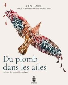 Page couverture du livre sur fond blanc, avec un dessin d'un oiseau au vol, mais composé de nombreux petites peintures de personnes de dos. Teintes rouge, bleu, caramel.