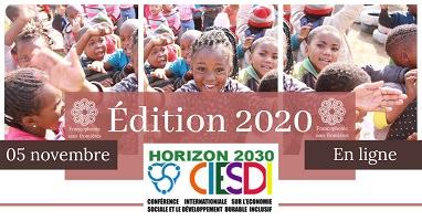 Affiche horizontale : photo d'une foule de fillettes africaines souriantes et regardant la caméra.