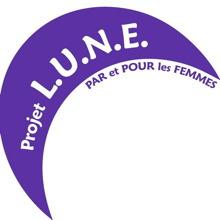 Logo : demi-lune mauve - PAR et POUR les FEMMES