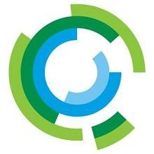 Logo de Québec International : quatre cercles de couleurs, mais leur longueur varie. Vert pâle, vert foncé, bleu ciel.