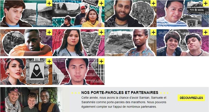 10 cartes postales avec les visages de jeunes de styles différents. Un beau graphisme artistique derrière chacun / chacune. Photo aussi des trois porte-parole ensemble.