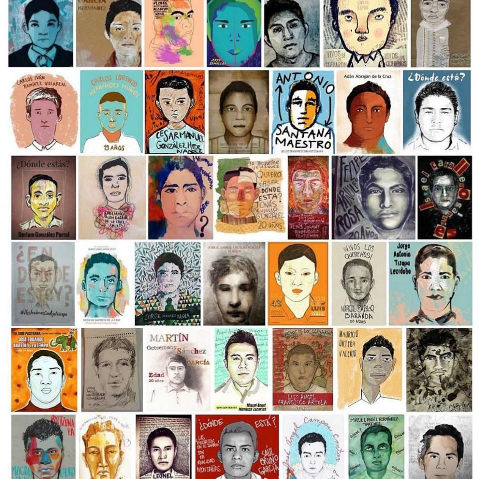 42 dessins de visages, artistiques, artistes variés, surtout des visages masculins.