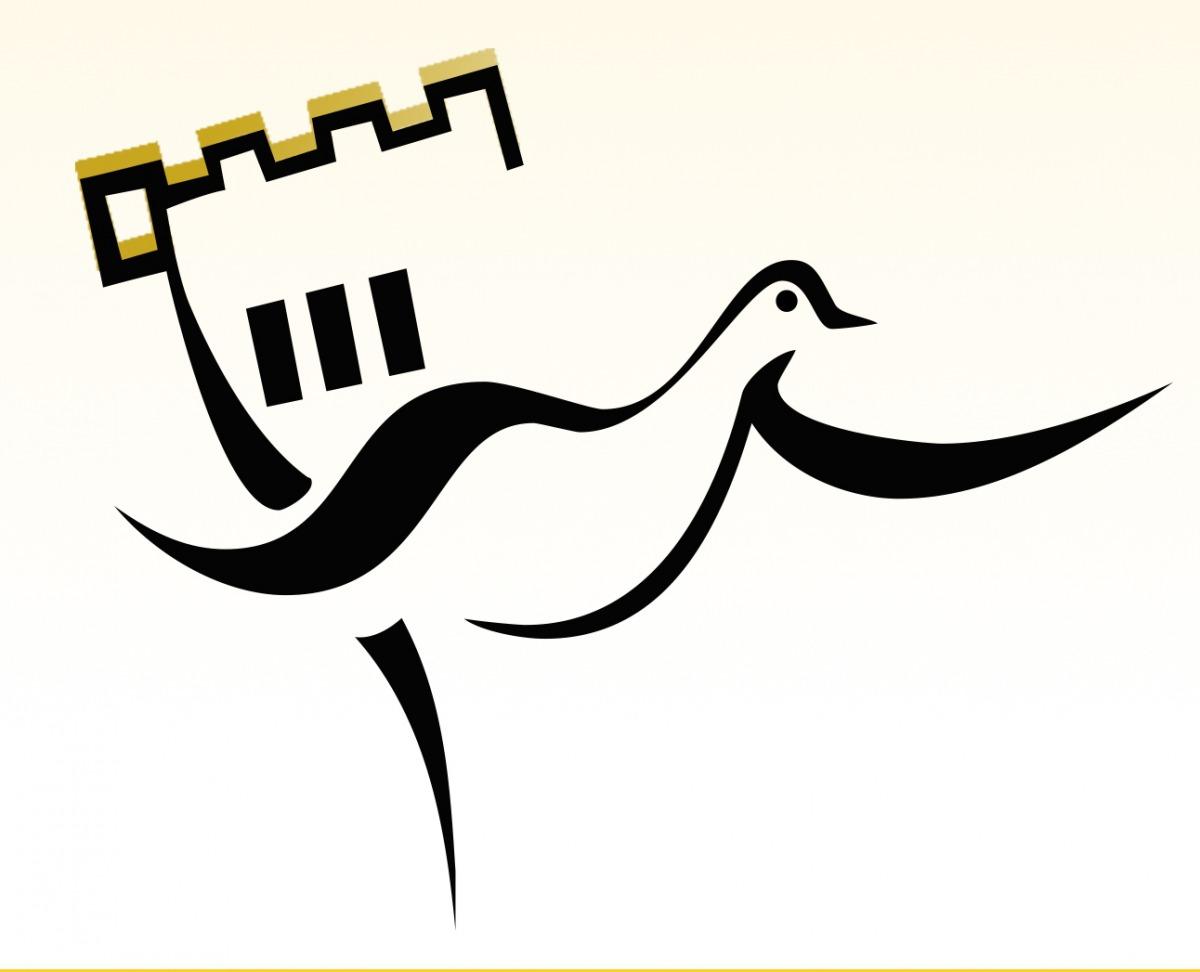 Logo du Comité logement d'aide aux locataires : discerne en partie le haut d'un chateau et un oiseau qui s'en dégage.