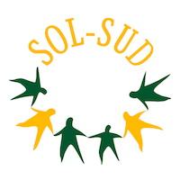 Logo : SOL-SUD. Dessous, six bonhommes vert et jaune se tenant par la main.