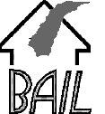 logo : ligne noir représentant un toit de maison ; de la fumée semble en jaillir. BAIL
