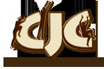 Logo du Centre Jacques-Cartier - sur les lettres CJC, trois petits bonhommes ombragés sautent d'une lettre à l'autre.