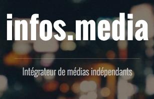 infos.media - Intégrateur de médias indépendants. Sur fond de lumières de ville très floues.