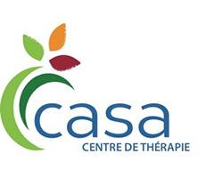 Logo : casa, centre de thérapie.  Le premier c est enrobé de deux lignes courbes vertes.</body></html>