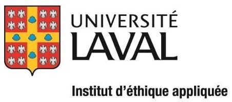 Logo simple en utilsant les emblèmes de l'Univ. Laval - Institut d'éthique appliquée.