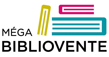 Logo sur fond blanc : trois formes simples, un peu géométriques, ressemblent à des livres vus de bordure seulement. jaune, rose, bleu.