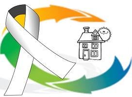 Logo du centre, soit dessin d'une maison avec un soleil souriant, à côté d'un ruban blanc géant.</body></html>