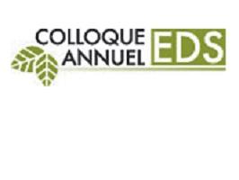 Logo: Colloque annuel EDS. Dessin de deux feuilles vertes.