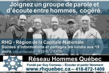 Affiche : photo noir et blanc, floue, de cinq hommes côte-à-côte, bras dessus bras dessous, souriants. Entre 30 et 60 ans environ. Les info sont transcrites ci-contre.