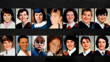 14 petits portraits couleurs des victimes : de jeunes femmes, âgées entre 20 et 31.