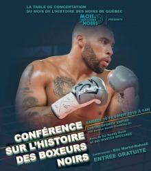 Affiche sur fond bleu-vert : le boxeur Martel-Bahoeli en position lors d'un combat de boxe. Tatoos noirs, cheveux rasés, barbe brune foncée très courte, gants de boxe gris ou argenté.