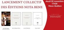 Affiche horizontale sur fond blanc, un côté est rouge. Quatre pages couvertures : une photo montrant une ancienne boîte à musique de style années 40 et les trois autres sont de simples couvertures blanches. Les titres sont transcrits dans l'annonce ici.
