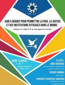 Affiche : des triangles de diverses dimensions, formes et couleurs sont imbriqués comme un vitraille. Au centre, dessin d'une colombe sur un marteau de justice. Logo de l'EUMC au haut (ressemble à huit personnages en cercle).