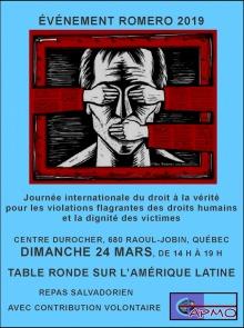 Affiche sur fond bleu ciel : dessin d'un homme dont les yeux et la bouche sont couvertes par des mains extérieures. Il semble être dans une prison aux contours rouge sang.