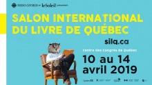 Affichette sur fond turquoise : un homme, à tête d'hibou, lit un livre sur un fauteuil en bois. Logo : Radio-Canada et journal Le Soleil.