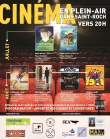 Affiche sur fond de sièges rouges d'une salle de cinéma : miniatures des affiches des films. Dix logo des groupes et partenaires. Détails transcrits dans l'annonce ici.