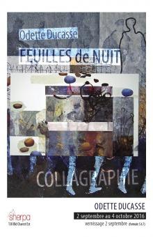 Affiche : peinture composée de plusieurs superpositions carrées de texture avec des cailloux. Un trait noir semble dessiné une forme humanoïde. COLLAGRAHIE