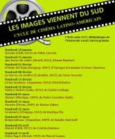 Affiche sur fond jaune moutarde, nommant les films présentés chaque mois. La liste est transcrite dans l'annonce ici.