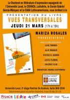Affiche sur fond orange : les info sont transcrites dans l'annonce ici. La page couverture du livre est incluse : un pot de peinture est versé sur une partie de la carte du Québec. Logo Université Laval.